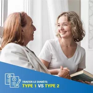 Les différences dans le traitement du diabète de type 1 et de type 2